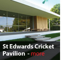 design of build of st edwards cricket pavillion